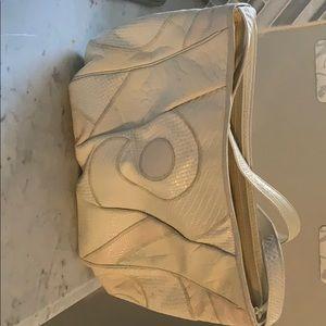 Vintage Sharif taupe swirl shoulder bag